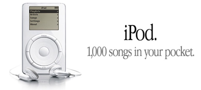 1,000 songs in your pocket slogan