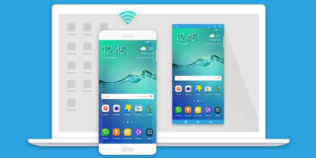 With Samsung SideSync you control your phone / tablet from your desktop with total ease