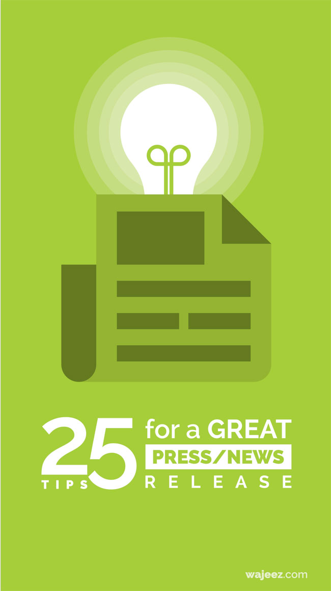 25 Tips For a Great Press / News Release