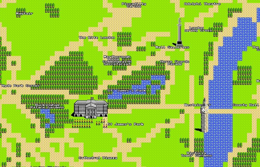 Google Maps 8bit Edition