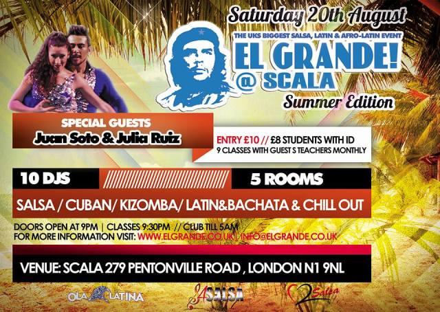 El Grande 17th June 2016 at Scala, 275 Pentonville Road, Kings cross, N1 9NL London, United Kingdom from 21:00 to 05:00!
