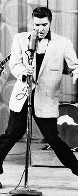 Elvis Presley singing Houndog on the Milton Berle Show in 1956