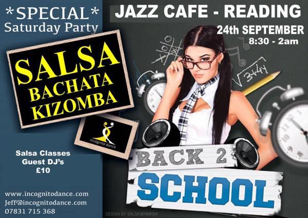Incognito's Saturday Salsa Nights in Jazz Café, Madejski Stadium, Reading RG2 0FL - run by Jeff Tarpinian.