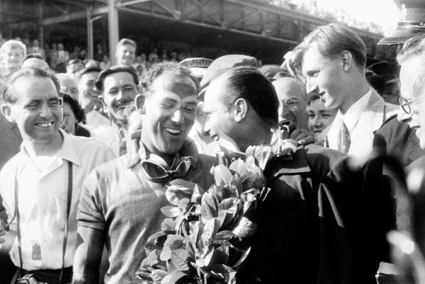 On 16th July 1955 Stirling Moss achieved his dream of winning a Grand Prix. It was the first time that an Englishman had triumphed in the British Grand Prix which was held at the Aintree track near Liverpool.