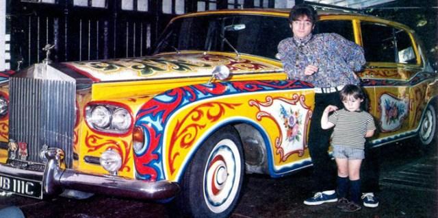 caravan, gypsy, Jimmy Pattison, john lennon, psychedelic, Rolls-Royce, romany, shagadelic, Yoko Ono