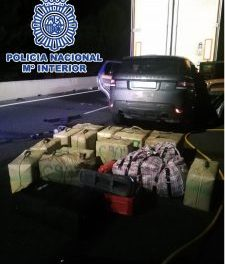 File Under Moronic Bust Of The Day: Hashish found in backpack in car after the driver crashed into the back of a broken down lorry