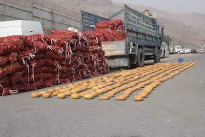 455 kilograms of Hashish seized by Special Forces in Kabul