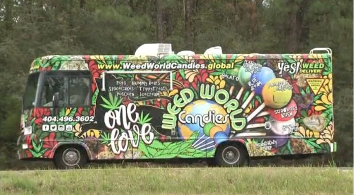 """Really !!!! Officers pulled over the """"Weed World Candies"""" van on I 65 Monday afternoon."""