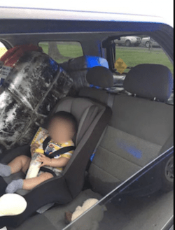 US Border Patrol Stop Car Stashed With 275lbs & Baby In Car Seat