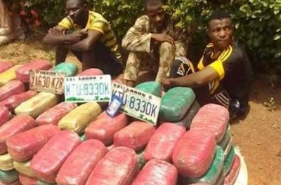 Nigerian Army Corporal Arrested With 169 Blocks of cannabis