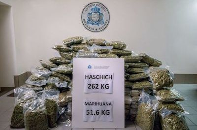 Luxembourg Customs Find 262 Kg Weed In Van Coming From Spain