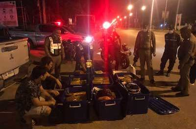 Thailand: Russian and two Thai men picked up by police with 296 packs of weed