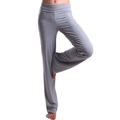 HDE Color Block Fold Over Waist Yoga Pants-Best Yoga Pants