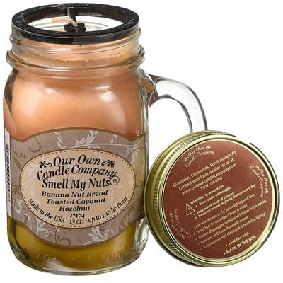Smell My Nuts Scented 13 oz Mason Jar Candle - Made in the USA by Our Own Candle Company-5 Best Candles
