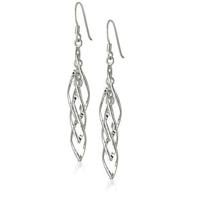 Amazon Collection Silver Linear Earrings-5 Best Earrings for Men and Women