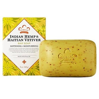 Nubian Heritage Indian Hemp and Haitian Vetiver-5 Best Hemp Soaps