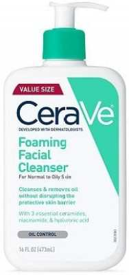 Face Washes for Oily Skin - CeraVe Foaming Facial Cleanser