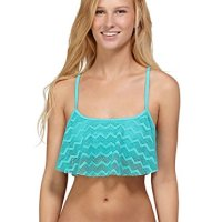 Roxy Juniors Making Waves Flounce Bikini Top