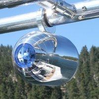 Aerial Single Bullet Speaker Pod with Integrated Light - Universal Clamp - Polished Aluminum (Set of 2 single speakers)