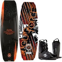Liquid Force Tex Wakeboard 134cm + Hyperlite Frequency Bindings Sz 8-12