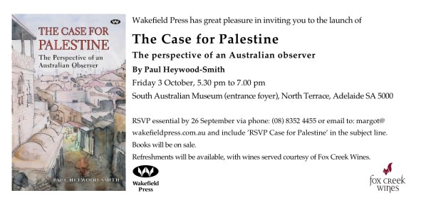 <em>The Case for Palestine<em> launch