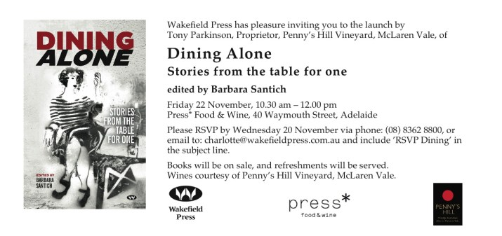 Dining Alone launch invitation