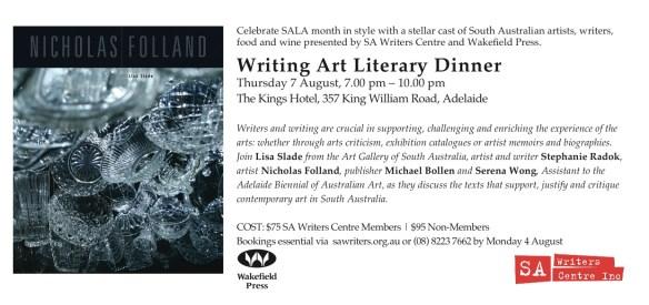SALA Writing Art Literary Dinner invite
