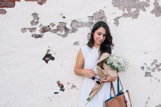 The End of Summer on Waketon Road Blog wearing a Rebecca Taylor LWD
