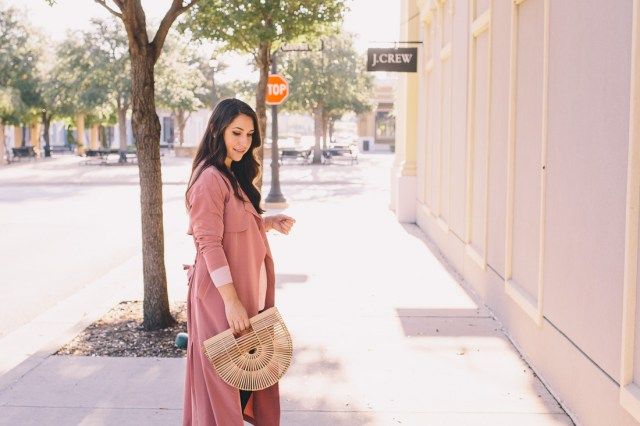 Pink Duster from Lord & Taylor on Waketon Road Blog with Cult Gaia Ark