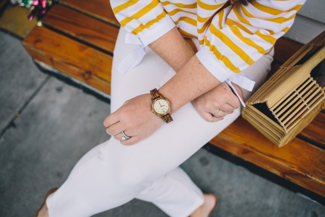 Spring Texture with My JORD Wood Watch on Waketon Road