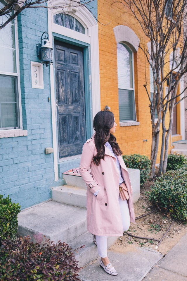 The Spring Trench on Waketon Road wearing blush Chicwish trench coat