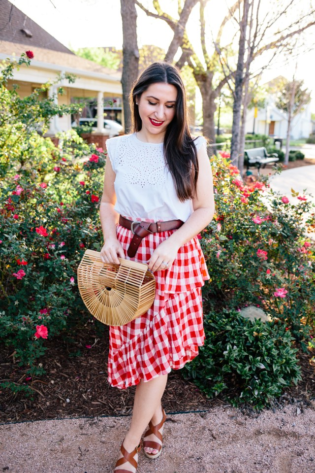How to Wear Red in Spring - Red Gingham on Waketon Road Blog