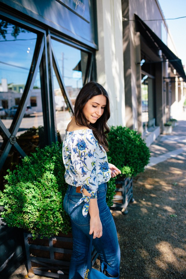 Off the Shoulder on Waketon Road wearing Loft