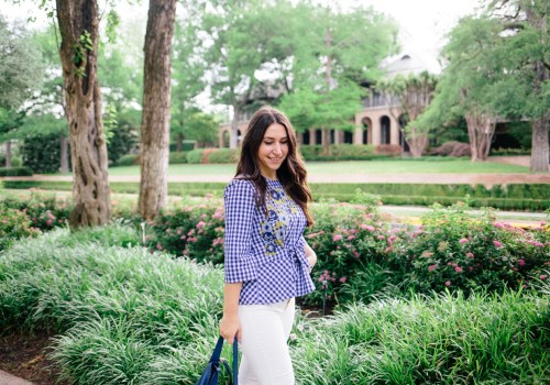 Gingham + Embroidery top on Waketon Road Blog wearing Zara