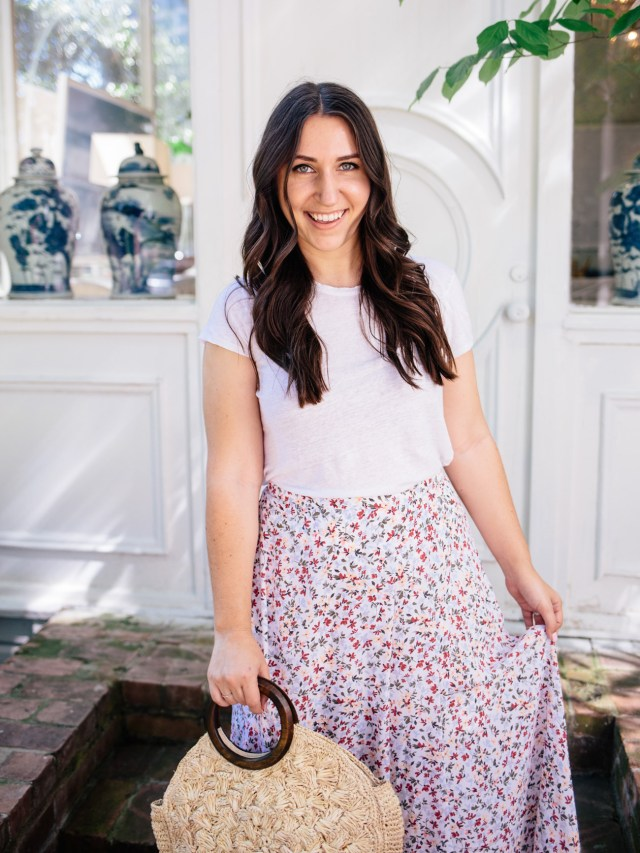 The Floral Maxi Skirt on Waketon Road wearing Abercrombie & Fitch