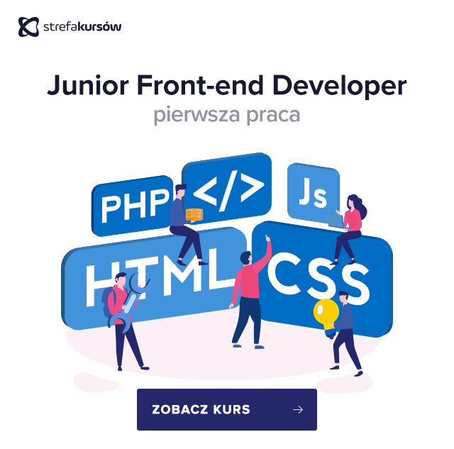 junior front-end developer pierwsza praca