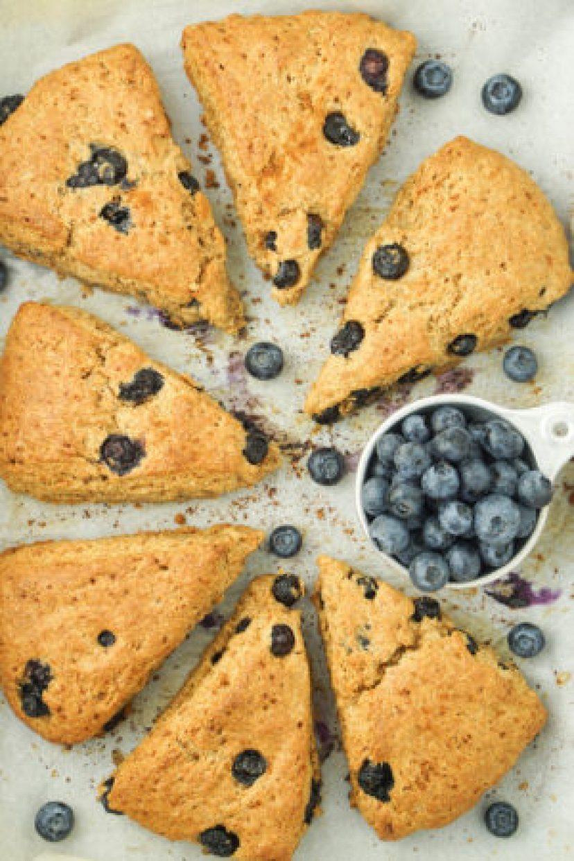 Healthy Blueberry Coconut Oil Scones! #healthy #scones #blueberry #dessert #coconutoil _