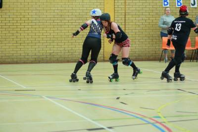 Wakefield Roller Derby in Action