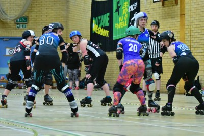 roller derby starting line up