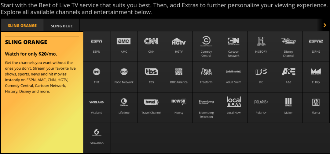 Sling TV Orange - Sling TV: More of the Same