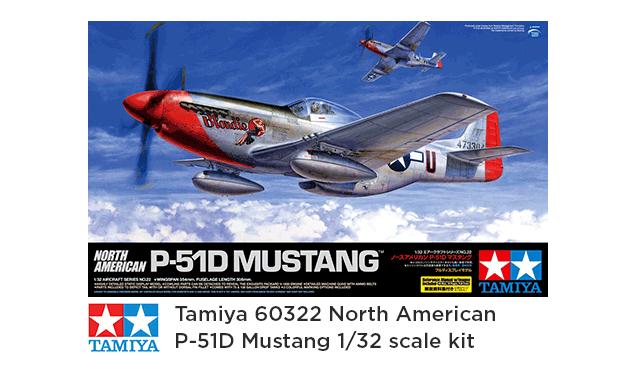 tamiya 60322 north american p-51d mustang - feature