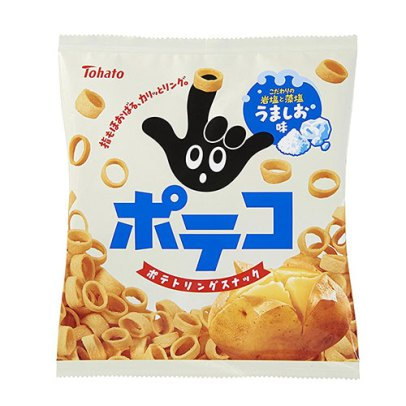 Tohato Poteko Lightly Salted Potato Ring Chips-4901940035212