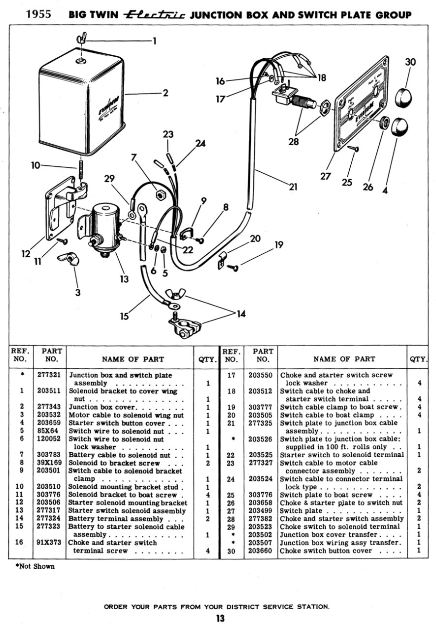 1956 Johnson 30HP internal wiring harness advice needed