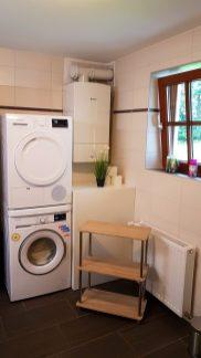 Waschmaschine + Trockner Ferienhaus Sacherl Wald Kobel