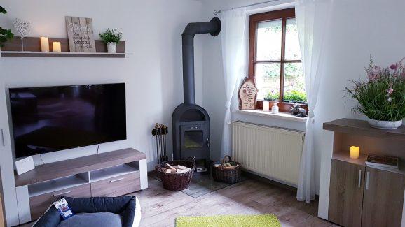 Kaminofen Wohnzimmer Ferienhaus Sacherl Wald Kobel