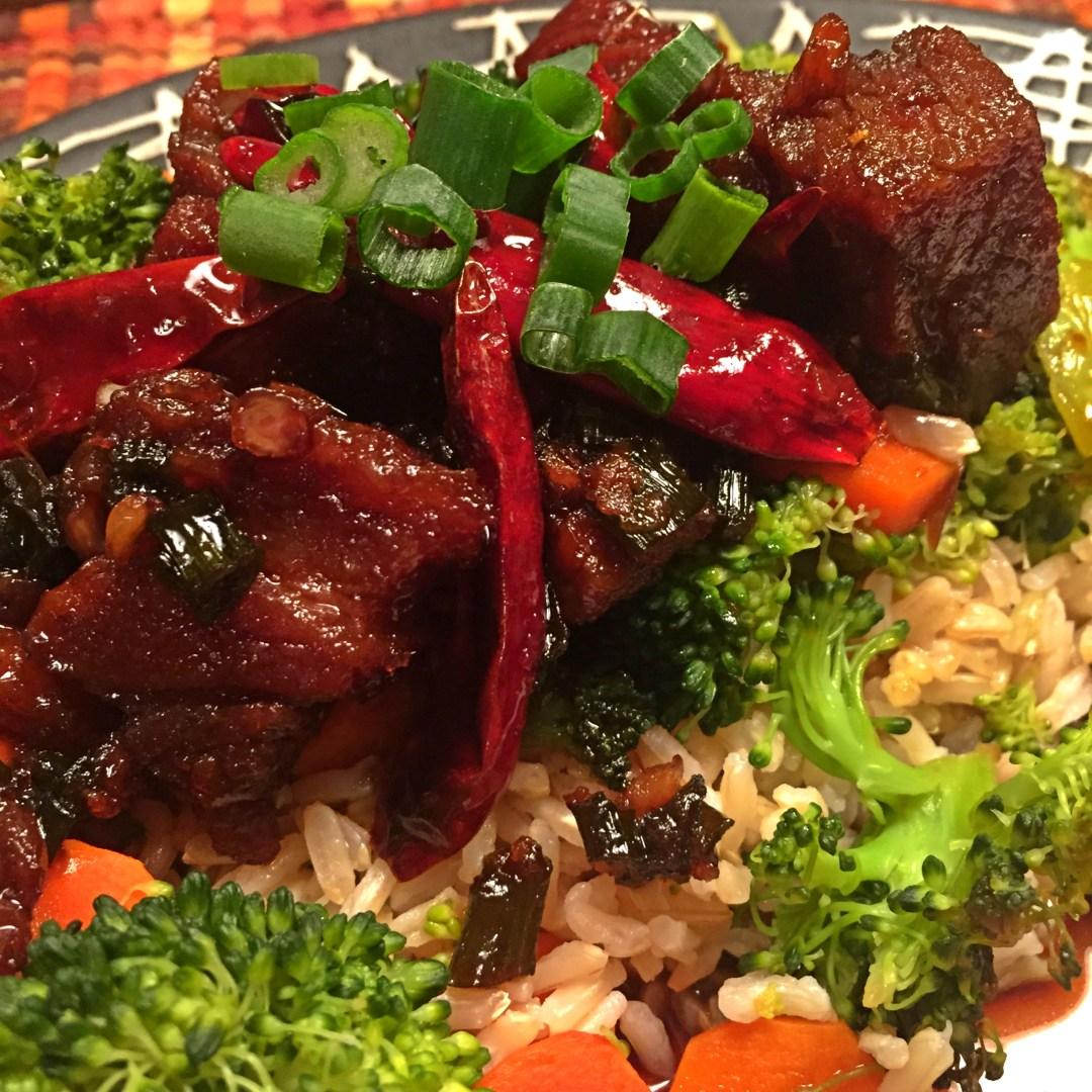 Asian Caramel Acorn Pork Belly