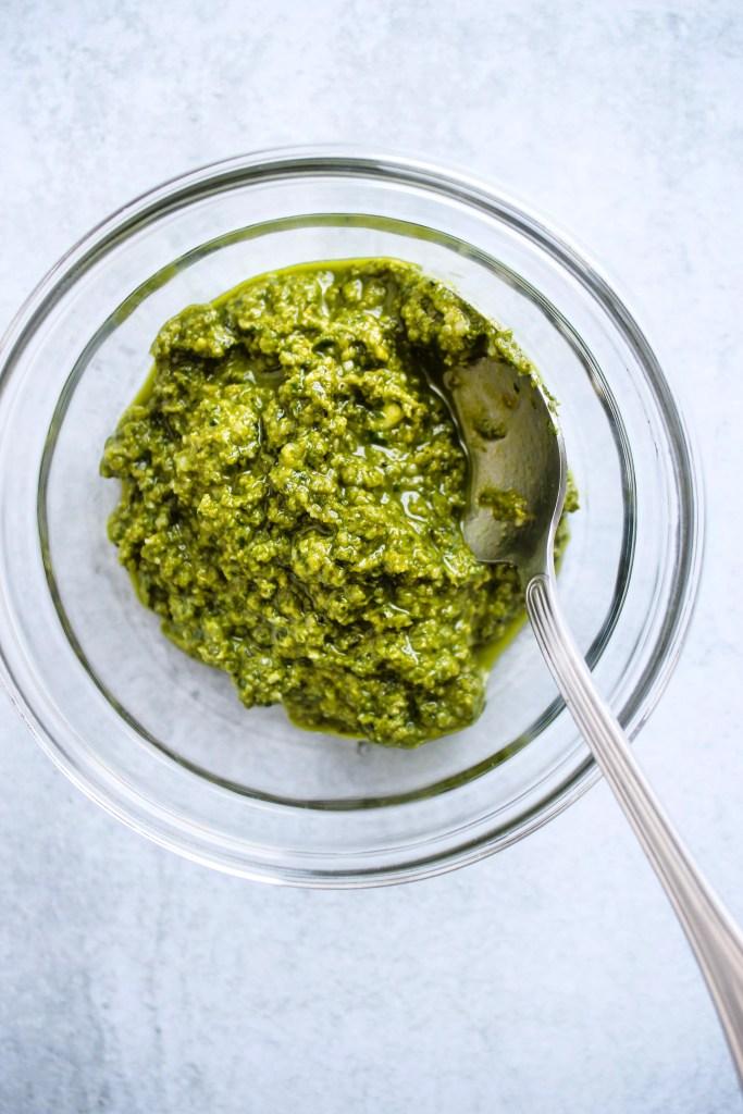 vegan hemp seed pesto