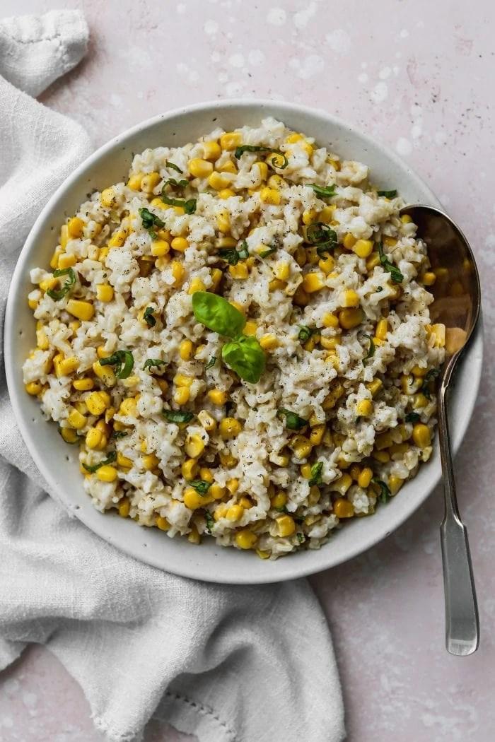 Creamy Coconut Corn Rice