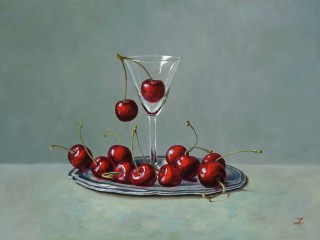 Cherries in a Glass