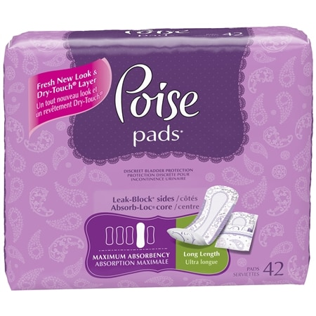 Poise Pads for Female Urinary Incontinence (Maximum)
